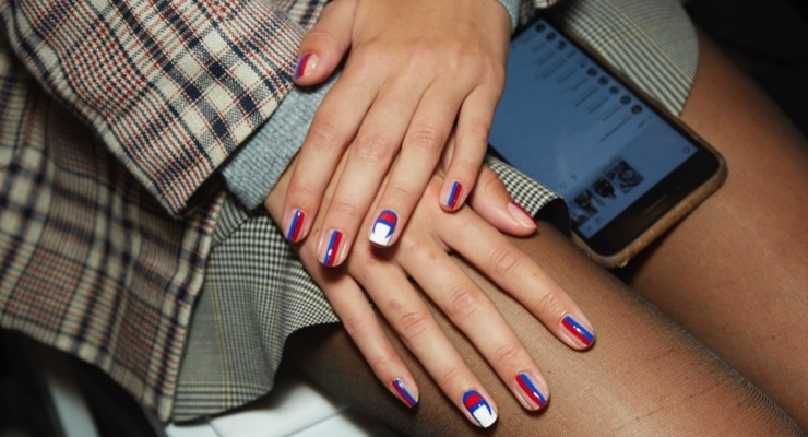 NYFW Nails Are Sporty & Striped