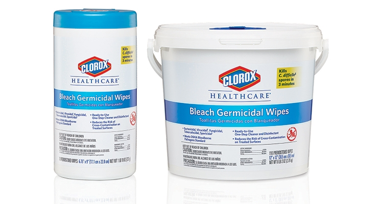 Clorox Healthcare voluntarily tested its Bleach Germicidal Wipes using updated EPA recommended standards earlier this year.