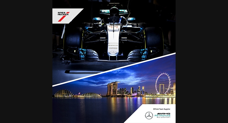 Axalta, Mercedes-AMG Petronas Motorsport Celebrate Win at Singapore Grand Prix
