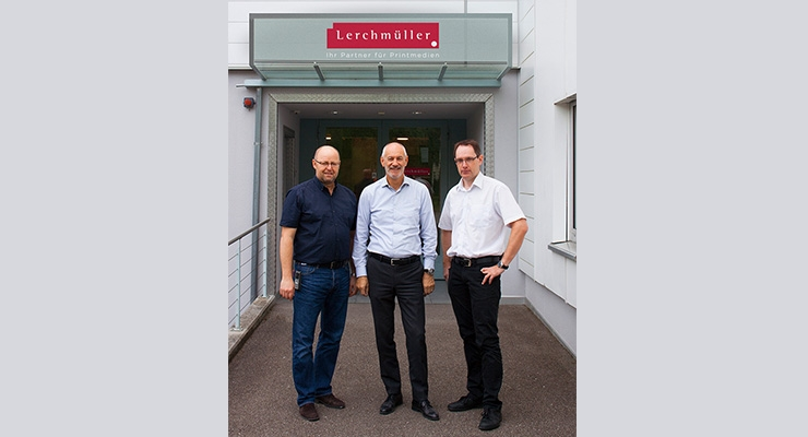 Pictured: (Left to right): Lerchmüller Production Manager Boris Wyrsch, GM Rolf Dörig, and GM Patrick Lerchmüller.
