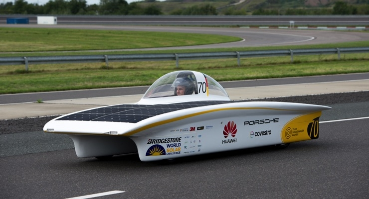 Covestro, PPG Test Automotive Refinish Coating With Bio-based Hardener on Solar Car
