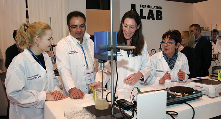 In-Cosmetics' Formulation Lab is always popular with attendees.