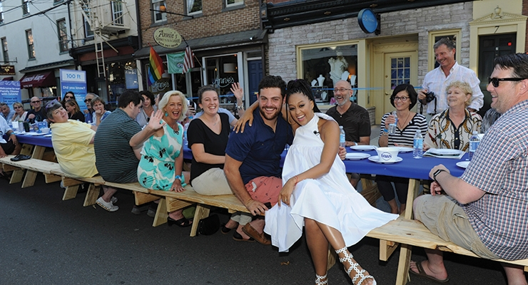 The best dinner guest ever! To show how far one bottle of Dawn dish detergent can go, the P&G brand hosted a town-wide dinner in Lambertville, NJ and did more than 6,000 dishes after.