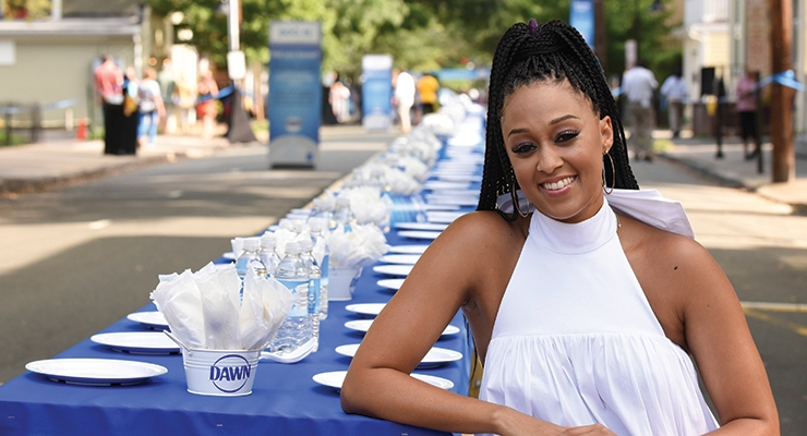 Tia Mowry was on hand at Dawn's town-wide dinner in Lambertville, NJ.