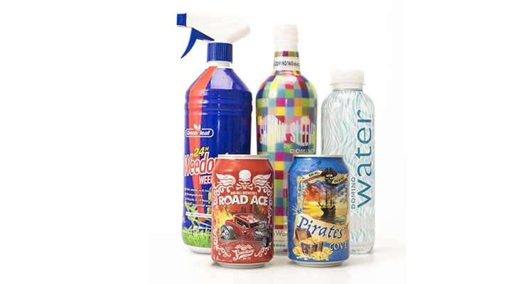 Domino N610i Ink Jet Press Prints On Shrink Sleeves at Labelexpo Europe 2017