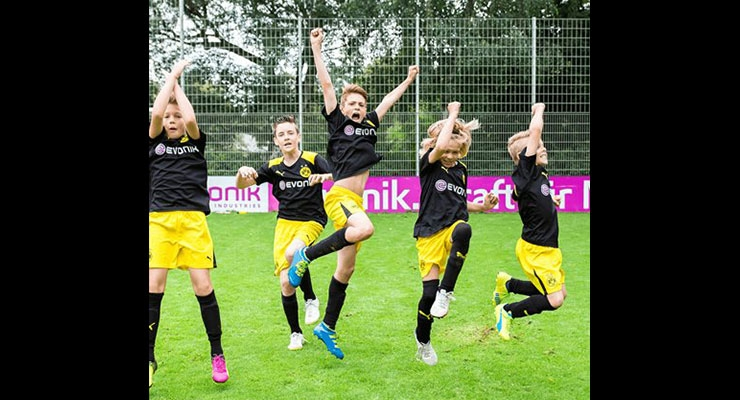 Borussia Dortmund Soccer School Celebrates 10th Year of Evonik Sponsorship