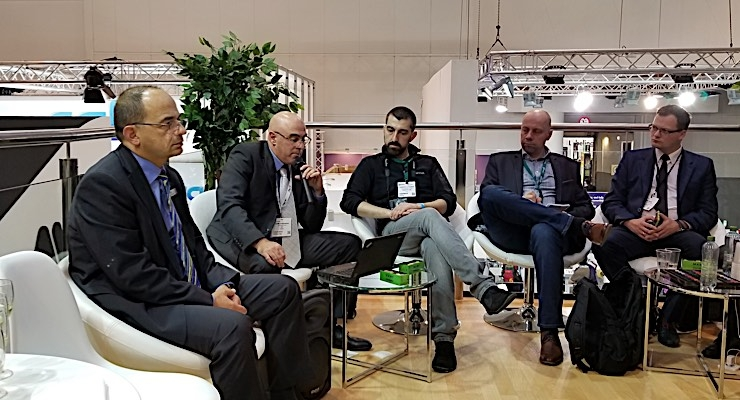 AVT delivers a press conference on Day 2 of Labelexpo Europe.