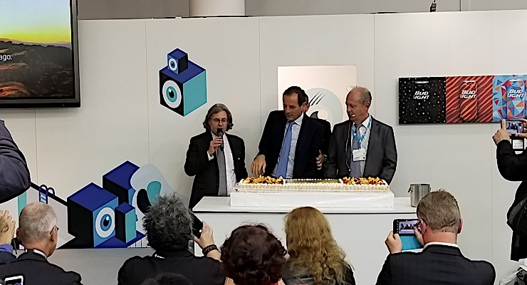 An HP press conference toasted 40 years of success with Indigo.