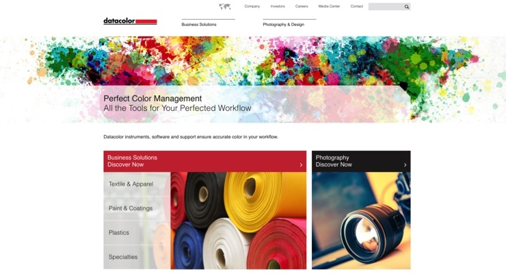 Datacolor Unveils Redesigned Website