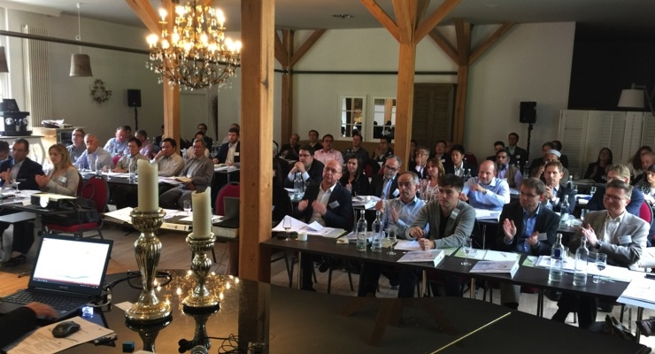 More than 50 distribution partners from over 25 countries discussed new products, applications at the keim group meeting in September 2017. (Source: keim group)