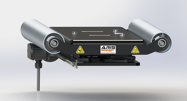 The ARIS web guiding system from  Roll-2-Roll Technologies