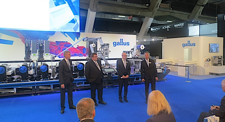 The Gallus team takes questions from the audience.