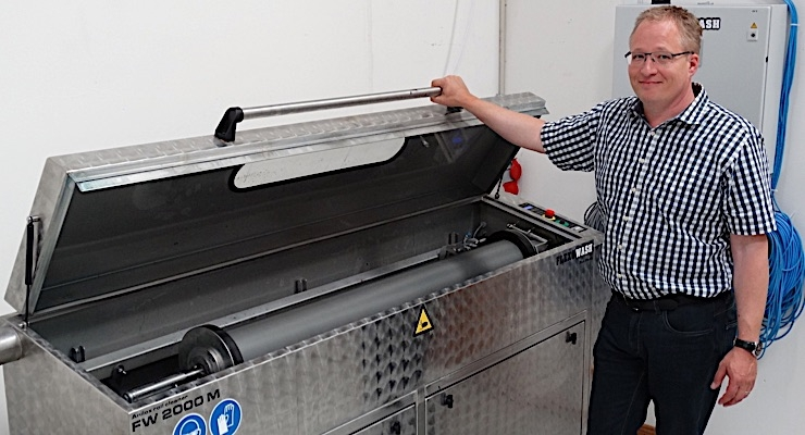 Martin Fundal has invested in a package of Flexo Wash equipment.