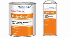 AkzoNobel Sign Finishes Launches Grip-Gard 3.5 VOC White Washprimer Light Enhancing