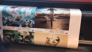 SGIA EXPO: Hop-Syn Offers P-O-P Displays Printed Live