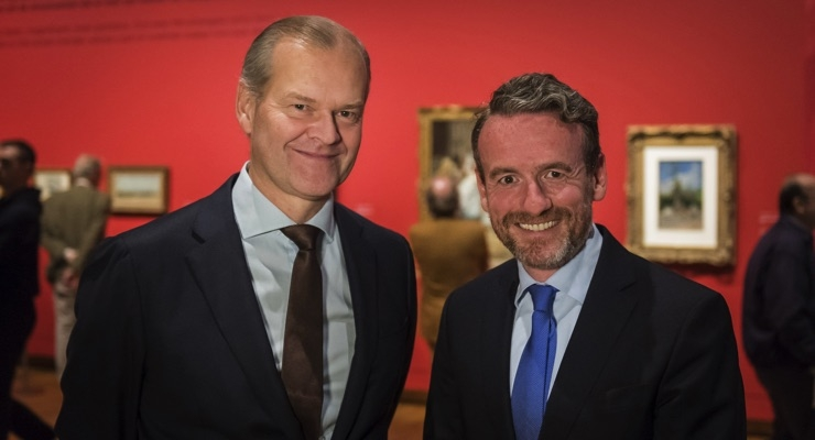 Ruud Joosten, COO AkzoNobel (left) and Axel Rüger, Director of the Van Gogh Museum