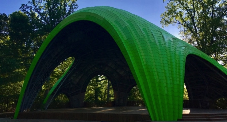 Valspar Creates Four Custom Shades Of Fluropon SR For Symphony Woods' New Multi-Use Amphitheater