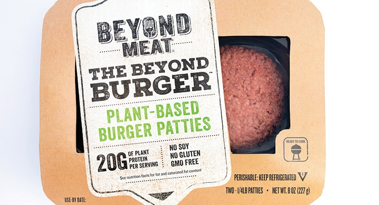 Beyond Meat has recently rolled out its pea-protein burger, Beyond Burger, in the chilled meat cabinets of America's supermarkets.