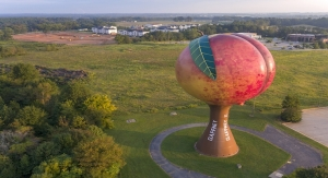 Gaffney, S.C. 'Peachoid' is People's Choice in 2017 Tank of the Year Contest