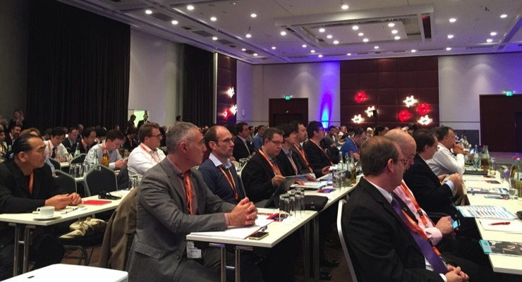 Delegates attend the first Plenary session during TheIJC 2017.