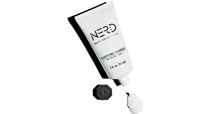 Nerd Skincare's  cleanser, in a tube