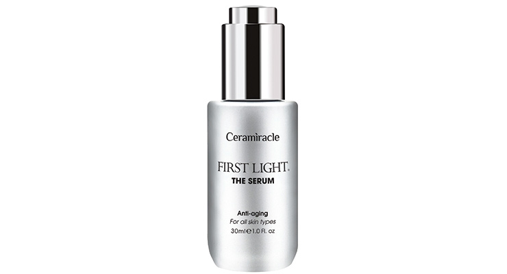 Ceramiracle's First Light, The Serum, in a modern style dropper bottle.