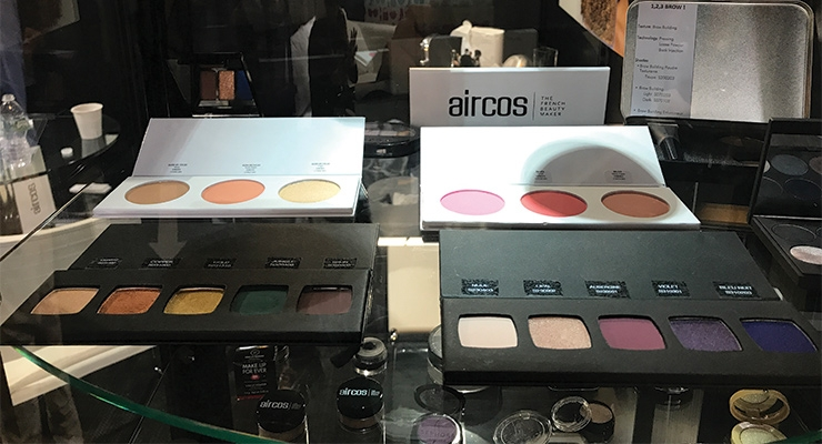 A variety of palettes and compacts from Aircos