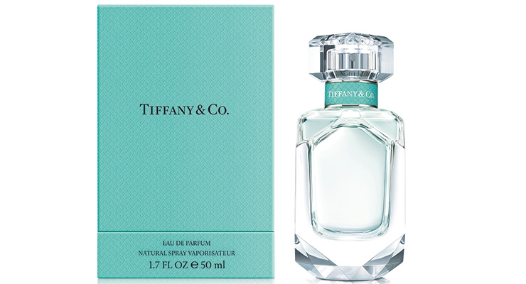 Coty scooped up the Tiffany license and launched the luxe brand's first fragrance in 15 years. Its glass bottle is carved as a diamond and the blue box is identical to the brand's iconic jewelry boxes.