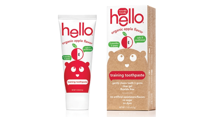 Hello Organic Apple toothpaste was created for little mouths from ages 3 months to 2 years.