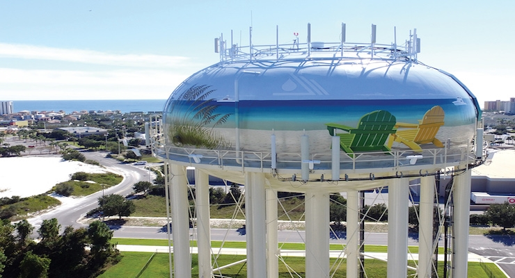 Destin, Fla. Water Tank Earns Tnemec 2017 Tank of the Year Award