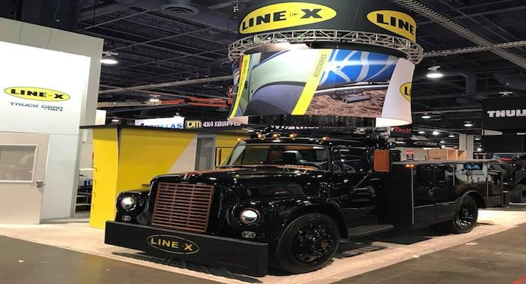 LINE-X, Summit Truck Bodies Showcase Hellcat-Powered International at 2017 SEMA Show