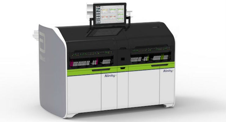 The Alinity ci-series consists of compact, clinical chemistry, and immunoassay systems. Image courtesy of Abbott.