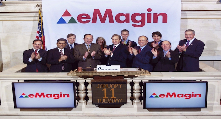 eMagin Signs Agreement with Tier-One Consumer Electronics Company