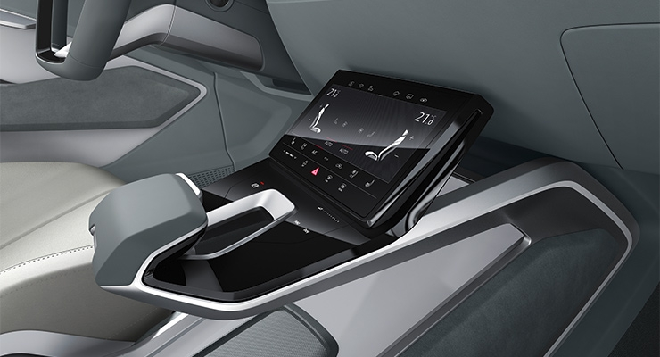 Audi Gran Turismo e-tron sportback concept car interior.  (Photos courtesy of Audi)