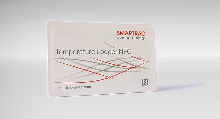Smartrac's Temperature Logger NFC. (Photo courtesy of Smartrac Group)