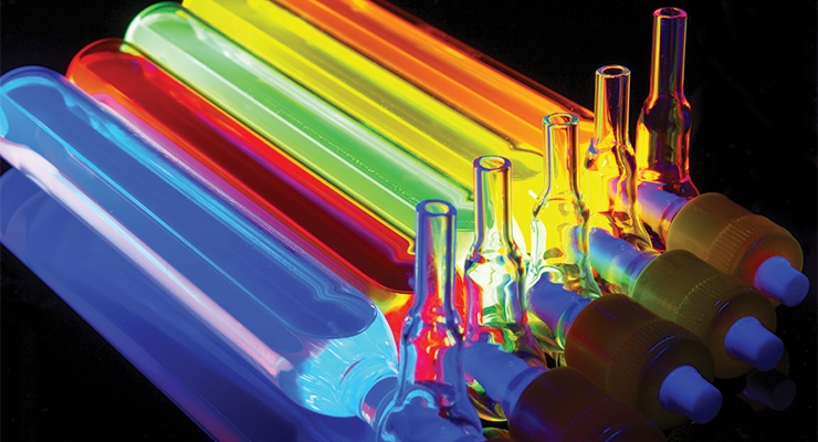Nanoco's Cadmium-free quantum dots in Schlenk tubes.  (Photo courtesy of Nanoco)