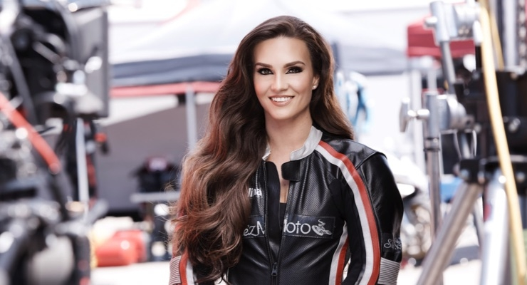 CoverGirl is amping up its marketing campaign with motorcycle road racer Shelina Moreda.