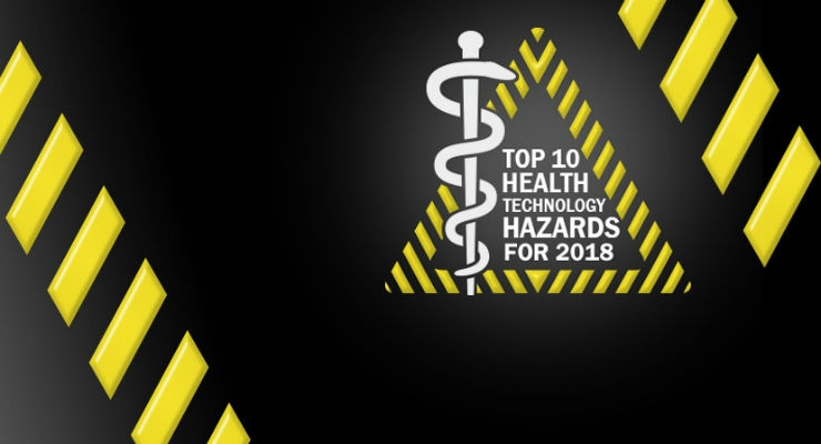 Top 10 Health Technology Hazards for 2018