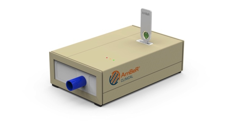 AmBeR is a new ammonia in-breath measurement device developed by U.K.-based BreathDx.