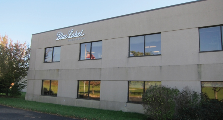 Blue Label's manufacturing facility in Lancaster, OH, USA