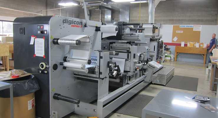 One of Blue Label's AB Graphic Digicon Series 3 finishing machines.