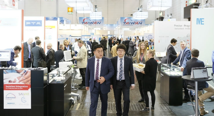 5,000 exhibitors from 66 countries will be showcasing their products and services at Medica 2017. Total exhibit space for Asian exhibitors (like Taiwan, pictured in the background) remained stable with 23,695 square meters as compared to last year's 23,125 square meters.