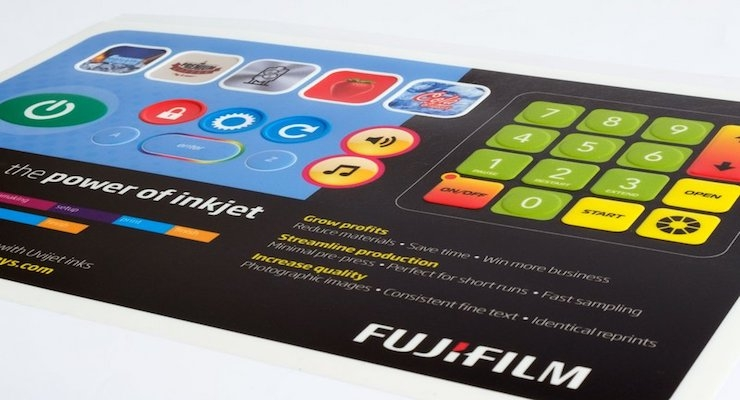 Fujifilm Demonstrates UV Inkjet Solutions for Membrane Switch Graphic Overlay Printing