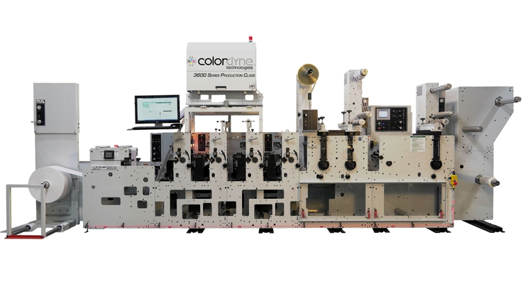 A flexo press becomes digital with the Colordyne Series UV - Retrofit.