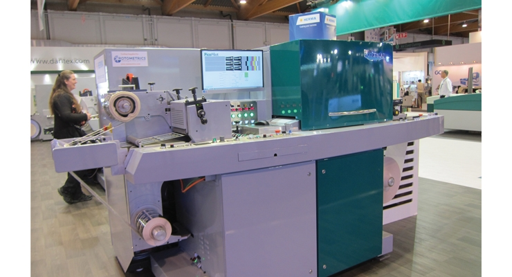 The Dantex PicoJet UV inkjet press on display at Labelexpo Europe.