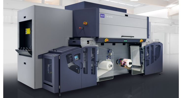 The new Durst Tau 330 RSC UV inkjet press