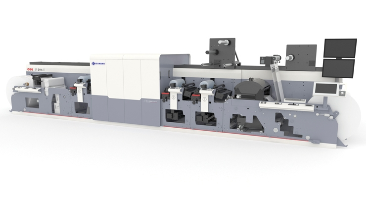 The MPS EF SYMJET press, powered by Domino