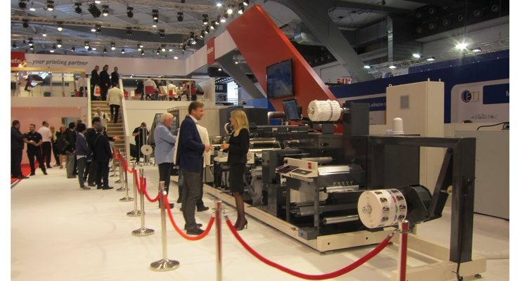 Nilpeter's Panorama press on display at Labelexpo Europe 2017 in Brussels.