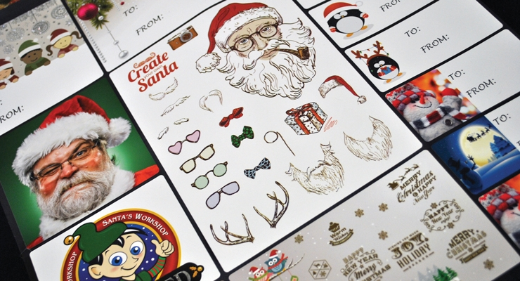 Mactac offers materials for seasonal applications, as seen with these Christmas-themed products.