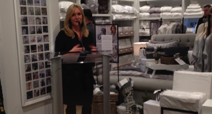 Founder Chrissie Rucker MBE at the opening of The White Company